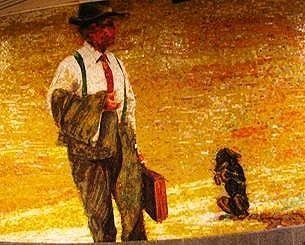 ông già và con chó