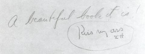 Thủ bút của Hemingway và Fiztgerald