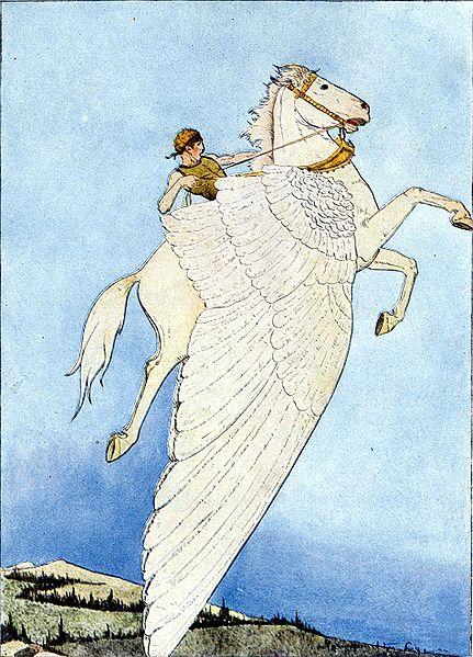 Ngựa trắng có cánh