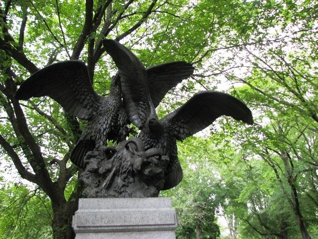 Tượng hawk trong central park