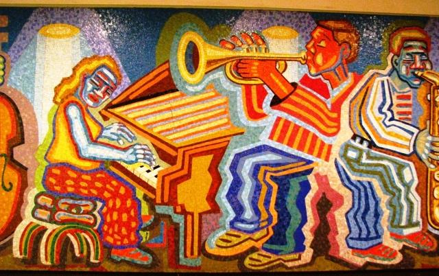 nhạc sĩ dương cầm và kèn trumpet