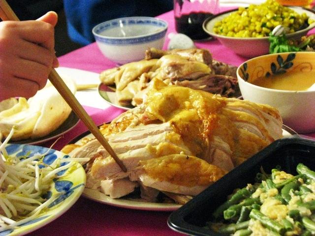 đĩa gà tây