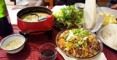 thịt bò xào, súp măng cua, ăn sau lễ Giáng sinh