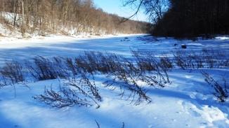 mặt hồ đóng thành băng