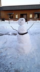 người tuyết bên sân ga