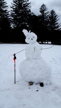 người tuyết đi hiking