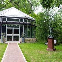 Một góc sân của vườn kiến trúc Umlauf