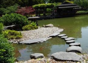 Đá trong vườn Nhật Bản ở Brooklyn