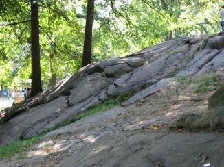 đồi đá ở Central Park New York