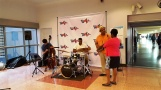 Ban nhạc jazz trước giờ trình diễn