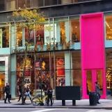 Thành phố lúc sắp tắt nắng. Một cây nhỏ lá vàng lưa thưa ngoài cửa tiệm bị mất dấu với màu sắc đậm đà của của hàng. Thành phố sắp lên đèn.