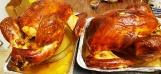 hai con gà tây ông Tám nướng