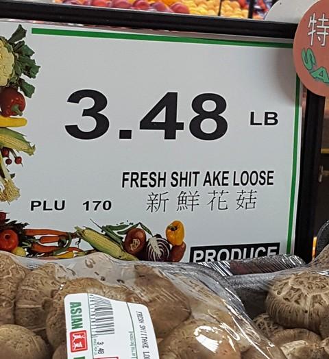 thấy trong tiệm bán thực phẩm của người Tàu
