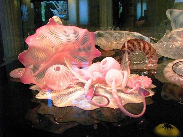 opaline and rose quartz seaforms