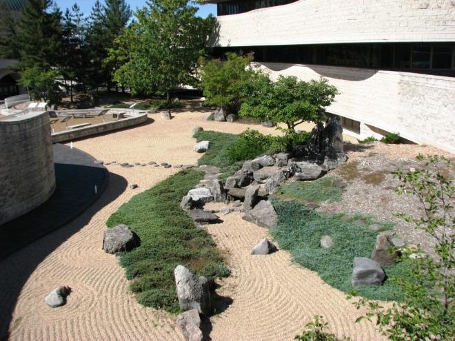 vườn Thiền từ trên cao nhìn xuống