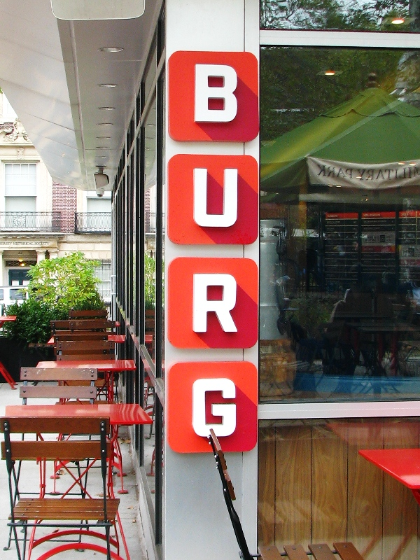 một cửa hàng chuyên bán hamburger ở thành phố Newark