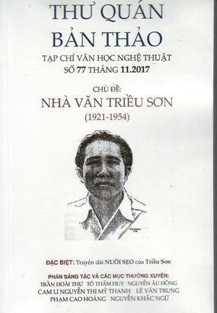 Bìa trước chủ đề nhà văn Triều Sơn TQBT số 77